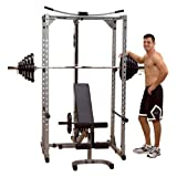 Powerline Power Rack System with Lat & Bench