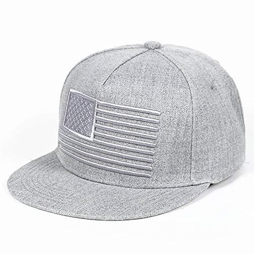 Vinteen Einfache Ball Caps USA amerikanische Flagge Patch Snapback Trucker Mesh Cap - Schwarze Baseball Cap (Color : Gray) - Usa-mesh-hut
