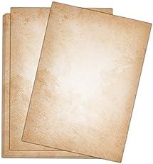 Briefpapier Vintage / 50 Blatt/DIN A4 / 120g / beidseitig bedrucktes Motivbriefpapier im hochwertigen Stil - Von Sophies Kartenwelt