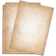 Briefpapier Vintage / 50 Blatt / DIN A4 / 120g / beidseitig bedrucktes Motivbriefpapier im hochwertigen Stil - Von Sophies Kartenwelt