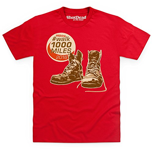 Walk 1000 Miles 2016 Boots T Shirt, Male