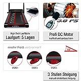 Sportstech F15 Laufband mit Smartphone App Steuerung, Bluetooth, 3 PS, 12 KM/H, 17 Programme und Tablethalterung – kompakt klappbar verstaubar, schwarz (F15)