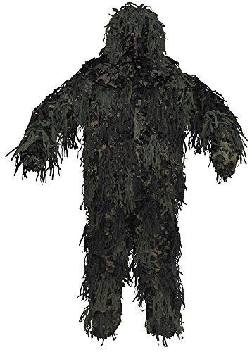 Tarnanzug, Ghillie Jackal, 3-D Body System, woodland Größe: M/L