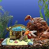 Decorazione acquario Ornamenti per acquari Aquarium Décor Progettazione della cabina da spiaggia di simulazione materiale in resina Decorazione dell'acquario Adatto per vasche di pesci decorativi