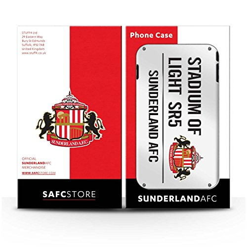Offiziell Sunderland AFC Hülle / Glanz Snap-On Case für Apple iPhone 4/4S / Pack 6pcs Muster / SAFC Stadium of Light Zeichen Kollektion Weiß/Schwarz