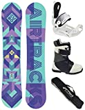 Airtracks Damen Snowboard Set/Cubo Lady Rocker 140 + Snowboard Bindung Master W + Snowboardboots Star W 39 + Sb Bag