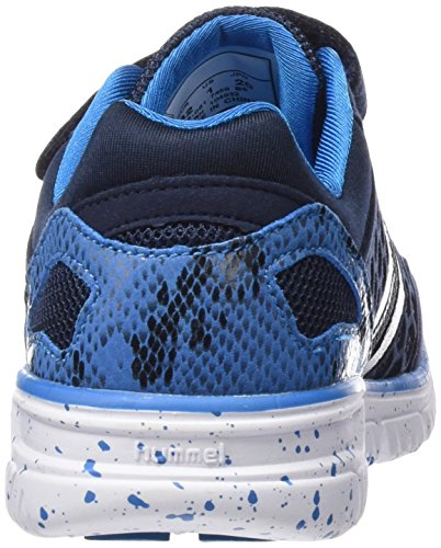hummel CROSSLITE Unisex-Kinder Hallenschuhe Blau (Dress Blue 7459)