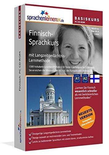 Finnisch-Basiskurs mit Langzeitgedächtnis-Lernmethode von Sprachenlernen24: Lernstufen A1 + A2....