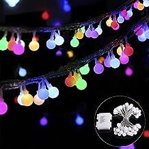 B-right Cadena de Luces, Guirnalda de Luces 4.5 Metros 40 LED Multicolor, 8 Modos de Luz, Decoración para Navidad, Fiestas, Bodas, Patio, Dormitorio, Jardines, Festivales, etc