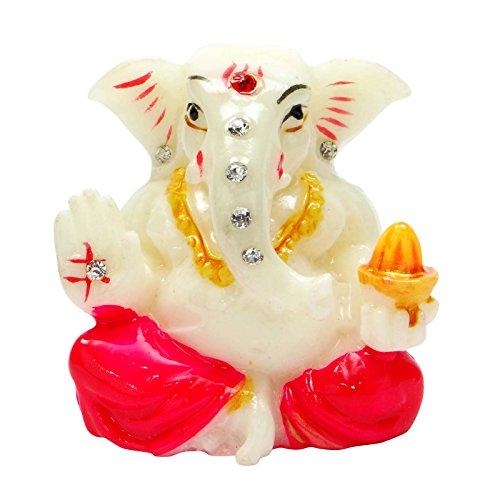 Poly Marble Lord Ganesha Statue Religiöse Auto-Armaturenbrett Tabelle Décor Ganpati