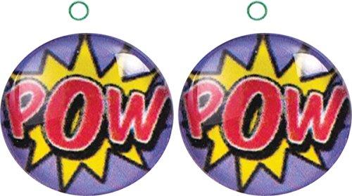 Erwachsene Damen Kostüm-Party Kostüm Schmuck Pop Art POW Ohrringe