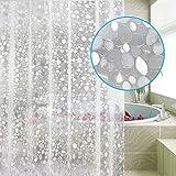 Carttiya Duschvorhang Anti-schimmel, EVA Badewanne Vorhang 180x 200 cm, Nicht Gerüche,BPA-frei,Wasserdicht,Antibakteriell,Weiß