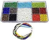 #9: Beadsnfashion jewellery making seed beads opaque & metallic DIY kit (12 colors)