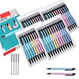 Portaminas Lápiz de 0.7 mm 48 piezas, y 4 tubos Recargas de Plomo Lápiz Automático Oficina y Papelería Escolar para Dibujo Escritura Bosquejo