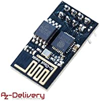 AZDelivery ⭐⭐⭐⭐⭐ ESP8266 ESP-01 Serial Wireless WLAN WiFi Transceiver Module for Arduino and Raspberry Pi including free eBook!