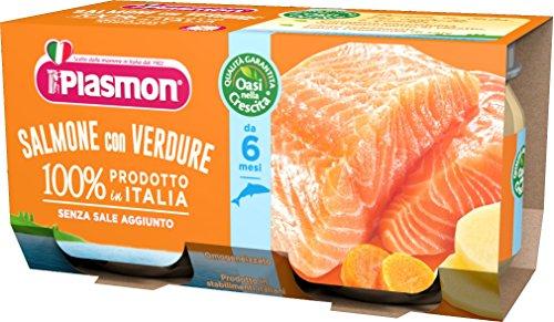 ( 5526 ) PLASMON (HEINZ ITALIA) PLASMON OMOG SALMO/VERD 80GX2P