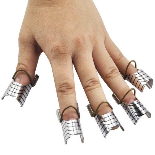 TRIXES X10 faux ongles réutilisable Art Forms Créer Conseils français pour le salon ou à la maison