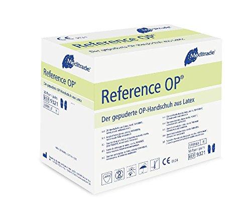 Meditrade 93217 Reference Latex Gepuderte OP-Handschuh, Steril, Größe 7 (100-er pack)