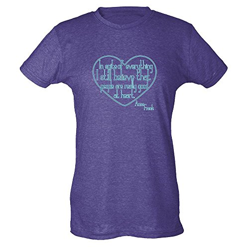 Pop Threads I Still Believe People Good At Heart Anne Frank Womens T-Shirt by