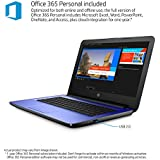"2018 HP Blue 14"" HD SVA BrightView LED-Backlit Display High Performance Laptop PC, Intel Celeron Dual-Core Processor 4GB RAM 32GB SSD HDMI Webcam Windows 10 Office 365 Personal 1 Year"