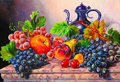 LULCLY Tableaux Peinture par Numéros pour Les Fruits Adultes DIY...