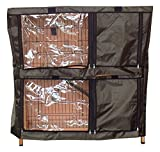 Charles Bentley Guinea Pig & Rabbit Hutch Cover - Pet/Hutch.02 Cage with Ventilation Holes - Fully Assembled