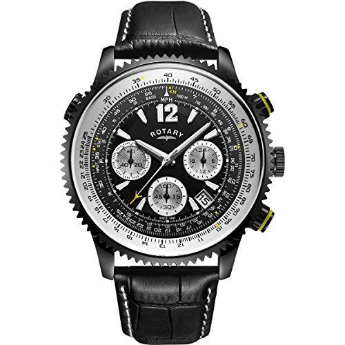 Herren Rotary Exklusive Pilot Chronograph gs00649/19