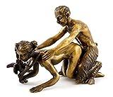Kunst & Ambiente - 2-tlg. Wiener Bronze - Faun verführt Jungfer - Bergmann-Stempel - Sex Bronzefigur - Vienna - Sammeln Erotik