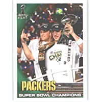 2010 Topps 2011 Super Bowl XLV Champions Green Bay Packers Football Card # 27 Aaron Rodgers / Clay Matthews (Super Bowl XLV Highlights) Celebrating the Super Bowl Win NFL Trading Card