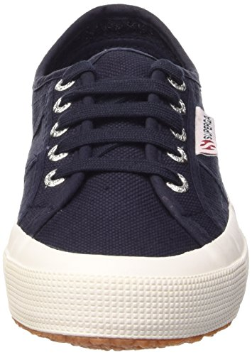 Superga 2750 Cotu Classic, Baskets Basses Femme Bleu - Blue - Blau (Navy-White)