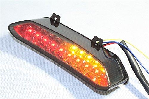 Htt Moto LED Feu arrière lumière de frein avec Intégré les signaux indicateurs pour 2002 2003 Yamaha YZF R1 Yzf-r1 Yzfr1 clair