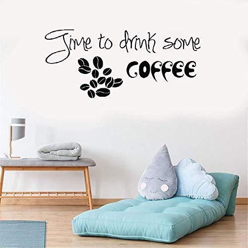 Wandtattoo Schlafzimmer Wandaufkleber Schlafzimmer Zeit, etwas Kaffee Kaffeebohnen Muster Küche Restaurant Pub Dekor zu trinken