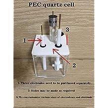PEC-test, 50 * 50 * 50 mm elektrolytische kwartscel, kwarts elektrolytische cel en ondersteunende elektrode worden afzonderlijk gekocht,Square cell