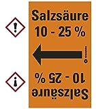 LEMAX® Rohrleitungsband Salzsäure 10 - 25 %,praxisbewährt,ab Ø 50mm,orange/schwarz,33m/Rolle