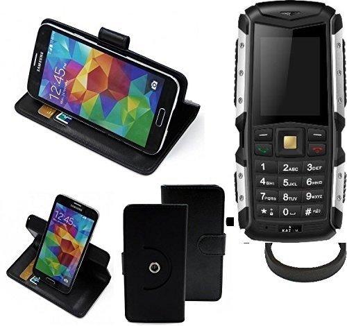 K-S-Trade® Hülle Schutzhülle Case Für -Jiayu F2- + Bumper Handyhülle Flipcase Smartphone Cover Handy Schutz Tasche Walletcase Schwarz (1x)