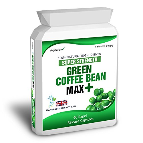 Green Coffee Bean Max Plus Slimming Pills- Suitable for Vegetarians, 5000mg