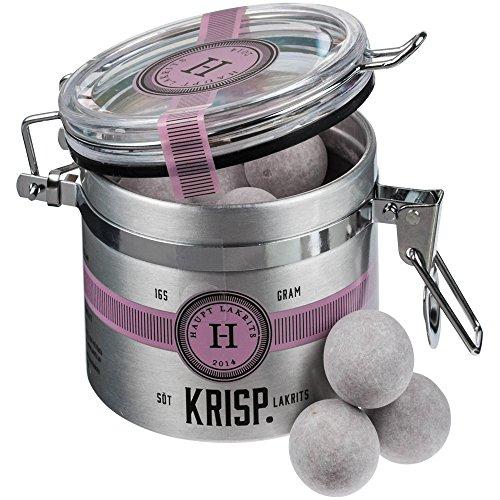 Haupt Lakritz - Réglisse sucrée au chocolat avec glaçage au sucre « Krisp » - 165 g