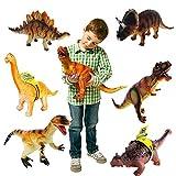Große Dinosaurier * 6 * Sortierte Kunststoff Tiere Childrens SPIELZEUG Abbildungen [Spielzeug]