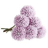 Unechte Blumen,Künstliche Deko Blumen Gefälschte Blumen Künstliche Hortensien 6 Köpfe Braut Hochzeitsblumenstrauß für Haus Garten Party Blumenschmuck (Lila)