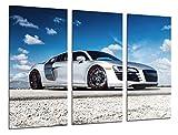 Wandbild - Bild Auto Sport Audi R8, 97x 62 cm, Holzdruck - XXL Format - Kunstdruck, 26363