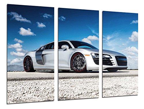 Cuadro Moderno Fotografico Coche Deportivo Audi R8, 97 x 62 cm ref. 26363