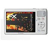 atFoliX Folie für Canon PowerShot S200 Displayschutzfolie - 3 x FX-Antireflex-HD hochauflösende entspiegelnde Schutzfolie
