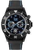 ICE-Watch - CH.BBE.B.S.14 - Ice Chrono Drift - Montre Mixte - Quartz Analogique - Cadran Noir - Bracelet Silicone Noir