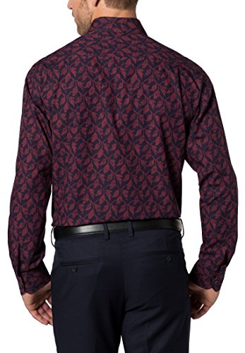 ETERNA Langarm Hemd COMFORT FIT Popeline bedruckt Rot