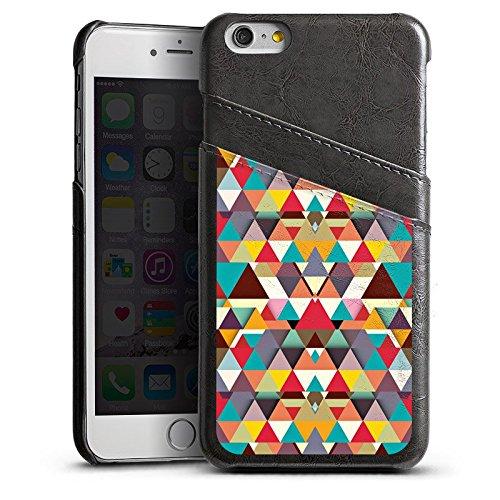 Apple iPhone 4 Housse Étui Silicone Coque Protection Triangles Triangles Triangles Étui en cuir gris