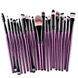 Tianya Make-up Pinsel Set, 20 PCS Professional Cosmetic Toiletry Kit Wolle Foundation Puder Lidschatten Eyeliner Pinsel, violett, Einheitsgröße