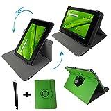 360 Gradbar für Aldi Medion Lifetab S10334 MD 98811 25,7 cm Metalgehäuse Tablet PC Tasche mit standfunktion - Grün Tasche 10.1 Zoll