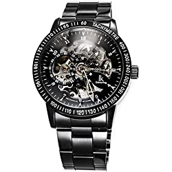 Alienwork IK Automatic Watch Self-winding Skeleton Mechanical Stainless Steel black black 98226G-A