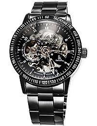 Alienwork IK Reloj Automático esqueleto mecánico Acero inoxidable negro negro 98226G-A