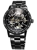 Alienwork IK Automatic Watch Self-winding Skeleton Mechanical Stainless Steel black black 98226G-A